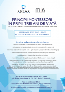 Principii Montessori in primii 3 ani de viata
